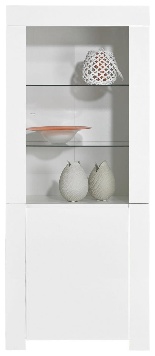 VITRINE Weiß - Weiß, Design, Glas/Holzwerkstoff (70/170/50cm) - Carryhome
