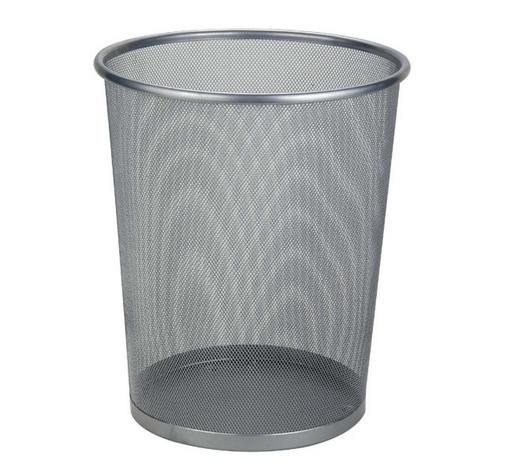 KOŠ NA PAPÍR,  - barvy stříbra, Basics, kov (29,5/35cm) - Homeware