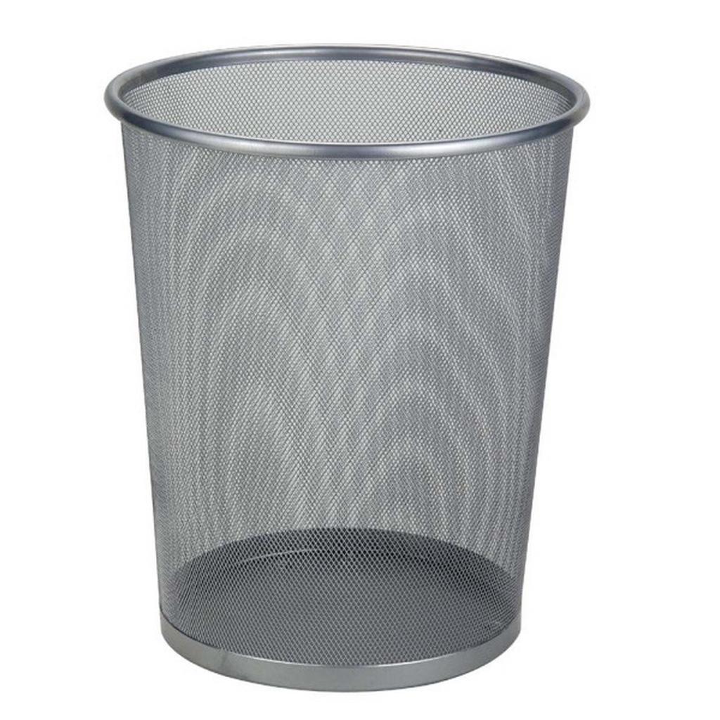 Image of Homeware Papierkorb metall , Kb7021L , Silberfarben , 10 l , 35 cm , lackiert , 0071120015