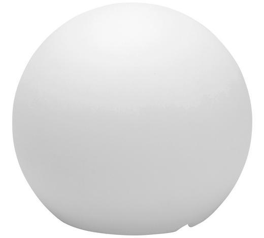 AUßENKUGELLEUCHTE - Transparent/Weiß, Design, Kunststoff (30cm)