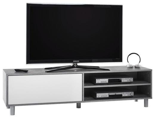 TV-ELEMENT Grau, Weiß - Chromfarben/Weiß, Design, Holzwerkstoff (160/45/40cm) - Carryhome