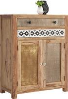 KOMODA - barvy sheesham/přírodní barvy, Design, kov/dřevo (90/116/45cm) - LANDSCAPE