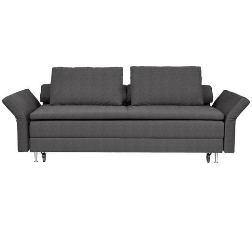 SCHLAFSOFA in Textil Braun, Grau - Braun/Grau, MODERN, Textil (220/100/98cm) - Joka