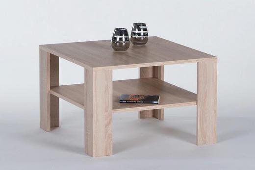 COUCHTISCH quadratisch Eichefarben - Eichefarben, Design (70/44/70cm) - Carryhome