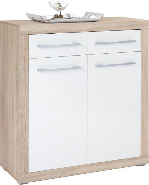 KOMODA - bijela/boje srebra, Design, drvni materijal/plastika (95/103/40cm) - Xora