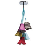 HÄNGELEUCHTE - Multicolor, LIFESTYLE, Textil/Metall (45/92cm) - Kare-Design
