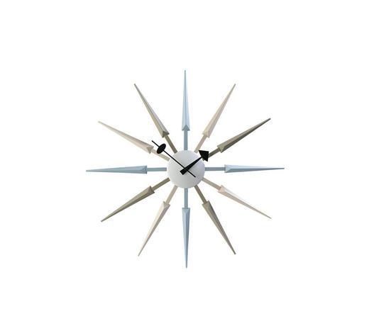 WANDUHR  Multicolor, Weiß 62 cm  - Multicolor/Weiß, Basics, Kunststoff (62cm)