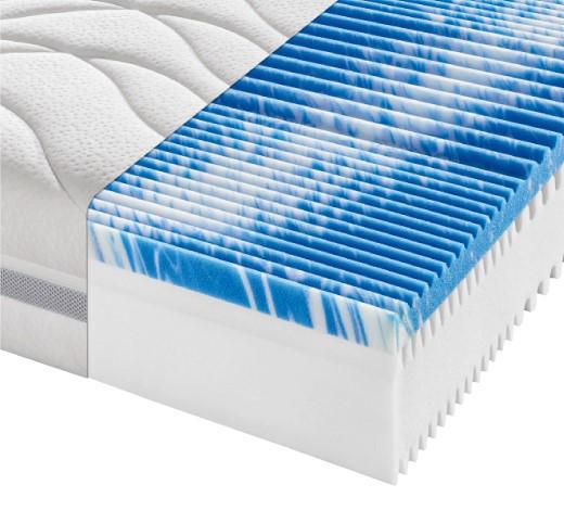 Partnermatratze Komfortschaum PERFECT TOUCH KS 200/200 cm  - Weiß, KONVENTIONELL, Textil (200/200cm) - Sleeptex