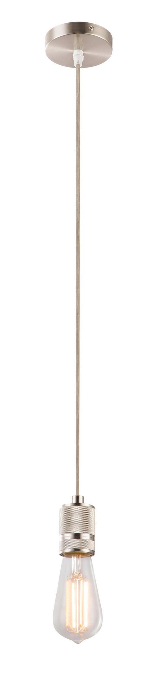 HÄNGELEUCHTE - Anthrazit, MODERN, Textil/Metall (10/150cm)