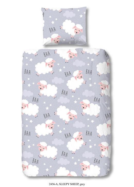 KINDERBETTWÄSCHE Renforcé Grau 100/135 cm - Grau, Trend, Textil (100/135cm)