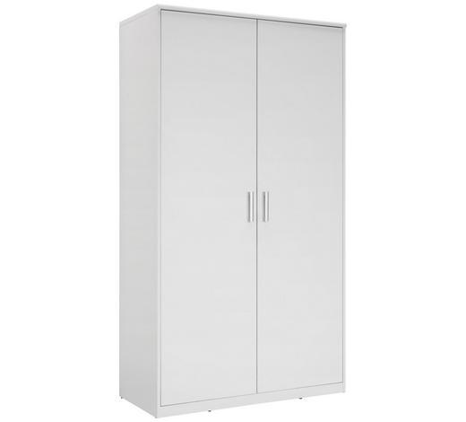 SKŘÍŇ ŠATNÍ, bílá - bílá/barvy stříbra, Konvenční, kov/kompozitní dřevo (106/194/54cm) - Xora