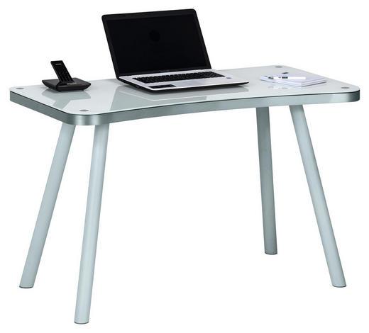 SCHREIBTISCH Weiß - Weiß, Basics, Glas/Metall (120,2/73/60cm)