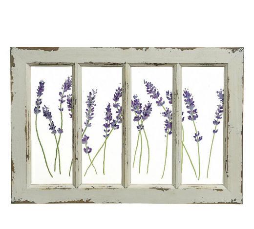 BILD Blumen  - Weiß, Trend, Holz (49/33/2cm)