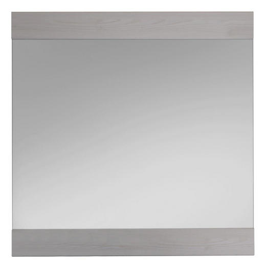WANDSPIEGEL Lärchefarben, Weiß - Lärchefarben/Weiß, Basics, Glas/Holzwerkstoff (86/90cm) - Carryhome