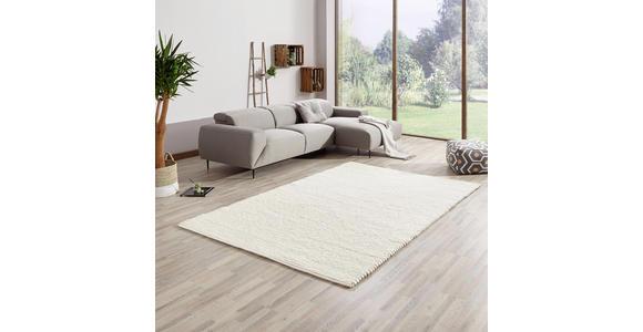 HANDWEBTEPPICH  170/230 cm  Weiß   - Weiß, Basics, Naturmaterialien (170/230cm) - Linea Natura