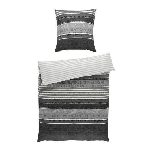 BETTWÄSCHE Biber Dunkelgrau 155/220 cm - Dunkelgrau, Basics, Textil (155/220cm) - JANINE