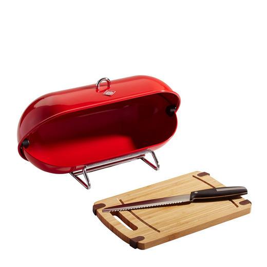 Wesco Breadboy  Brotbox - Rot, Basics, Metall (28/43/22cm)