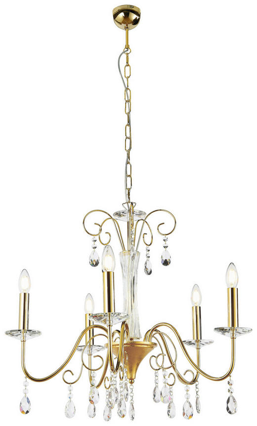 KRONLEUCHTER - Goldfarben, LIFESTYLE, Glas/Metall (64/65cm)