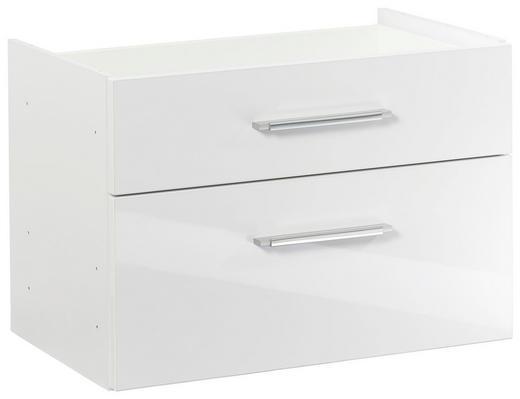 HÄNGEREGISTERELEMENT - Silberfarben/Weiß, KONVENTIONELL, Holzwerkstoff/Kunststoff (76/51/39cm)
