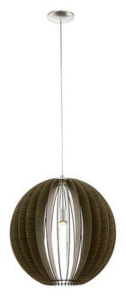 TAKLAMPA - brun/mörkbrun, Natur, metall/trä (110/50cm) - NOVEL