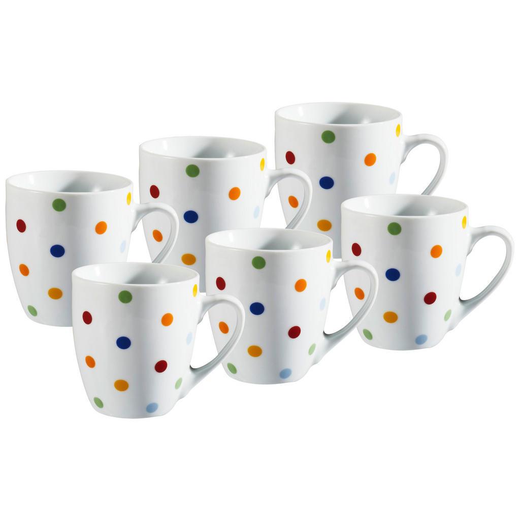 XXXLutz Tassenset 6-teilig keramik porzellan multicolor