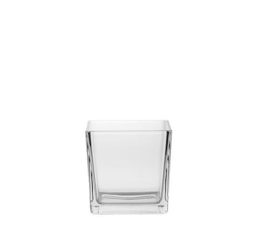 TEELICHTGLAS - Klar, Basics, Glas (12/12/12cm) - Ambia Home