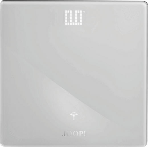 PERSONENWAAGE - Weiß, Basics, Glas/Metall (32/32/2,5cm) - Joop!