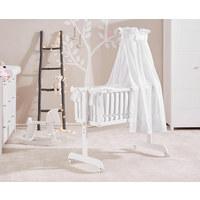 WIEGE Linda Buche Weiß - Weiß, LIFESTYLE, Holz/Textil (105/61/88cm) - MY BABY LOU