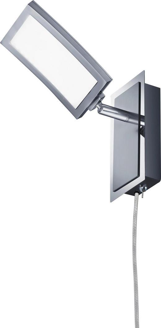LED-STRAHLER - Chromfarben/Weiß, Design, Kunststoff (3/13cm)