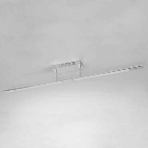 LED-DECKENLEUCHTE - Chromfarben, Design, Kunststoff/Metall (120/8/15,20cm) - Joop!