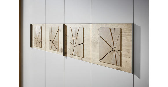 DREHTÜRENSCHRANK in Eichefarben, Sandfarben  - Sandfarben/Eichefarben, KONVENTIONELL, Holz/Holzwerkstoff (299,2/229,4/59,5cm) - Dieter Knoll