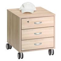 KONTEJNER - barvy stříbra/barvy dubu, Konvenční, dřevěný materiál/umělá hmota (44,4/51,2/54,7cm) - Paidi