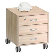 KONTEJNER - barvy stříbra/barvy dubu, Konvenční, kompozitní dřevo/umělá hmota (44,4/51,2/54,7cm) - Paidi