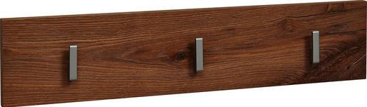 GARDEROBENLEISTE Balkeneiche furniert Eichefarben - Eichefarben, Basics, Holz (63/14/2,4cm) - Dieter Knoll