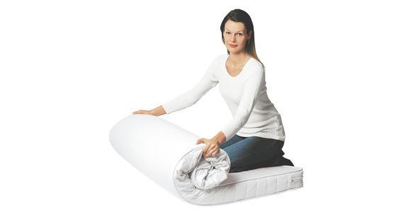 ROLLMATRATZE 120/200 cm  - Weiß, Basics, Textil (120/200cm) - Sleeptex