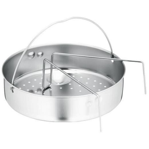EINSATZSTEG - Edelstahlfarben, Design, Metall (22cm) - WMF