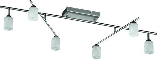 LED-DECKENLEUCHTE - Weiß, LIFESTYLE, Glas/Metall (101cm)