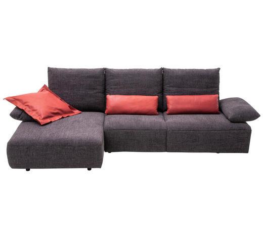 WOHNLANDSCHAFT in Textil Anthrazit - Anthrazit/Schwarz, Design, Kunststoff/Textil (155/305cm) - Dieter Knoll