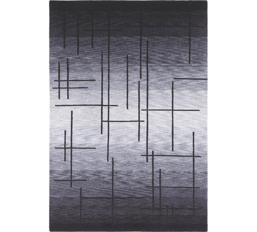 KOBEREC ORIENTÁLNÍ, 90/160 cm, šedá, černá - šedá/černá, Basics, textil (90/160cm) - Esposa