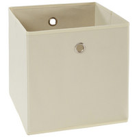 FALTBOX Metall, Textil, Karton Naturfarben, Silberfarben  - Silberfarben/Naturfarben, Design, Karton/Textil (32/32/32cm) - Carryhome