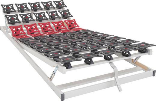 LATTENROST 90/200 cm , - Dunkelgrau/Dunkelrot, Basics, Kunststoff (90/200cm) - SLEEPTEX