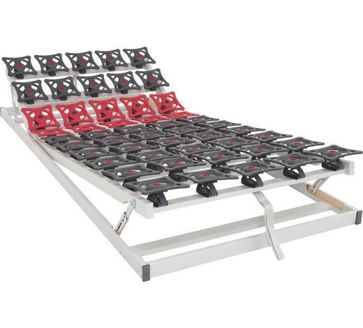 LATTENROST 90/200 cm  - Dunkelgrau/Dunkelrot, Basics, Kunststoff (90/200cm) - Sleeptex