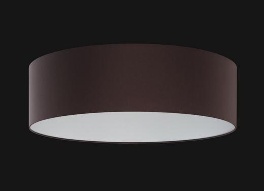 DECKENLEUCHTE - Braun/Grau, KONVENTIONELL, Kunststoff/Textil (60cm)