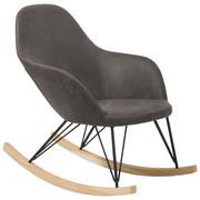 SCHAUKELSTUHL - Eschefarben/Schwarz, Design, Holz/Textil (67/89/98cm) - Xora