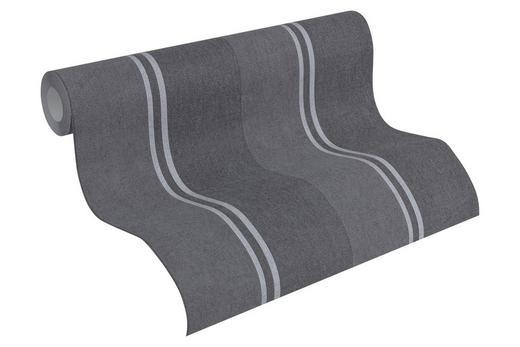 VLIESTAPETE 10,05 m - Silberfarben/Grau, Design, Textil (53/1005cm)