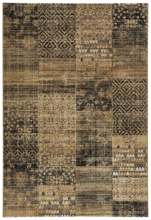 HOCHFLORTEPPICH  160/230 cm  gewebt  Beige, Dunkelgrün - Dunkelgrün/Beige, Textil (160/230cm)