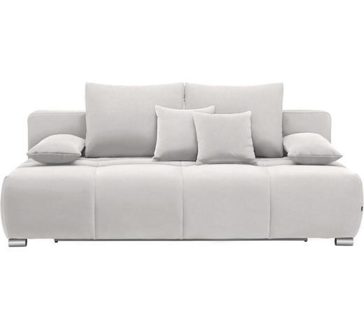 SCHLAFSOFA in Textil Hellgrau  - Chromfarben/Hellgrau, Design, Kunststoff/Textil (212/72-90/108cm) - Hom`in