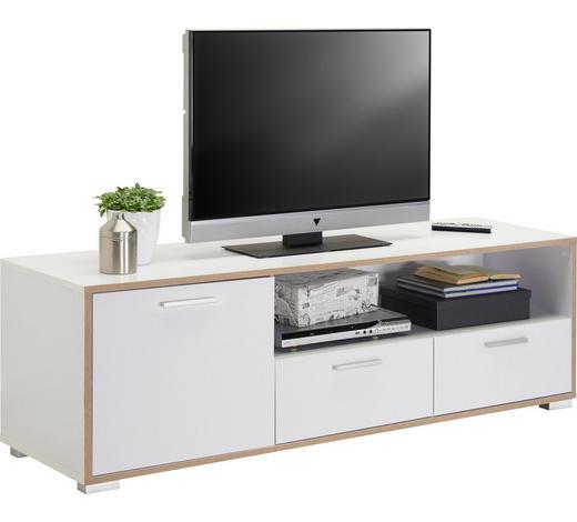 TV-ELEMENT 160/50/45 cm - Silberfarben/Weiß, Design, Holzwerkstoff/Kunststoff (160/50/45cm) - Carryhome