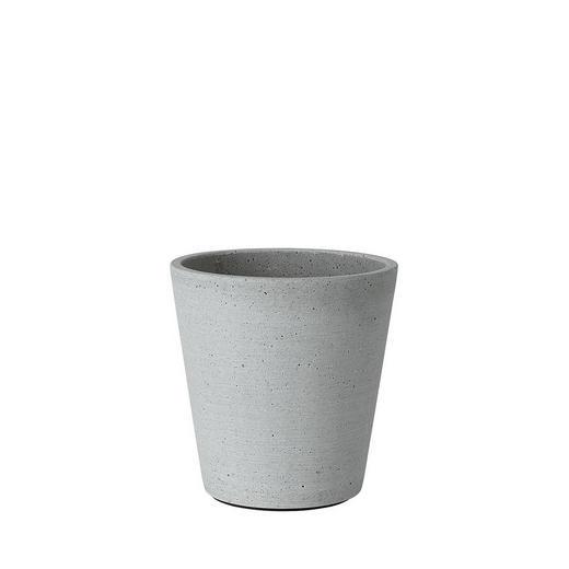 PFLANZTOPF Stein - Hellgrau, Basics, Stein (14/14,5cm) - Blomus
