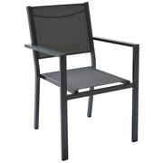 STAPELSESSEL Aluminium Grau - Grau, Design, Textil/Metall (55/86/61cm) - Ambia Garden